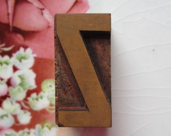 Letter Z Antique Letterpress Wood Type Printers Block
