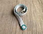 Lovingly Woven Fiber Bracelet, Blue Bracelet, Friendship Bracelet, FRESH START