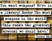 Doctor Who Library Quote Magnet or Pocket Mirror (no.364) - chicalookate