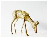 sale // Vintage brass deer doe fawn