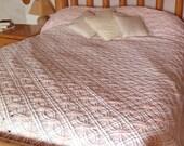 Chenille Bedspread in Pink, Vintage