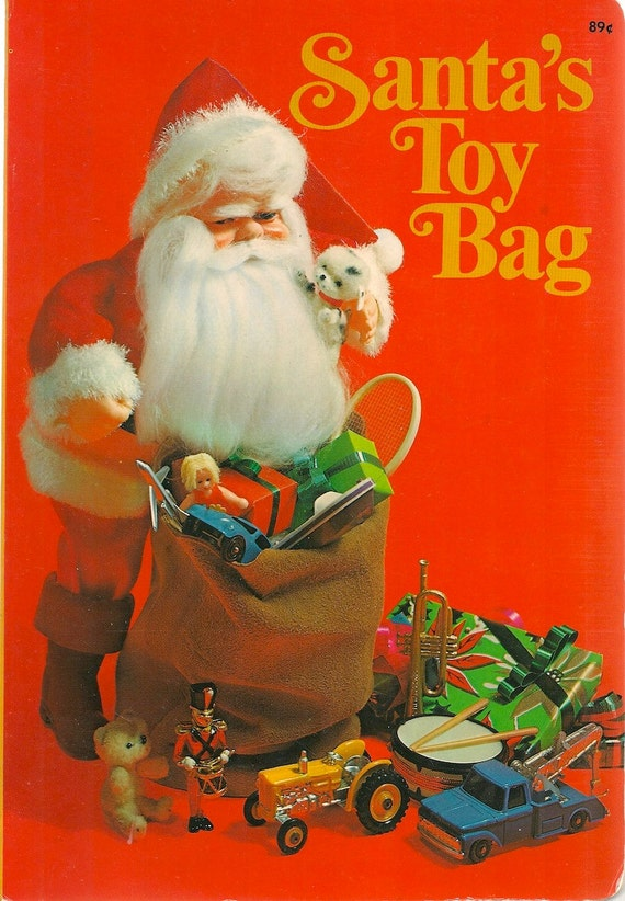 Santa S Bag Of Toys : Vintage kids book santa s toy bag a whitman board by