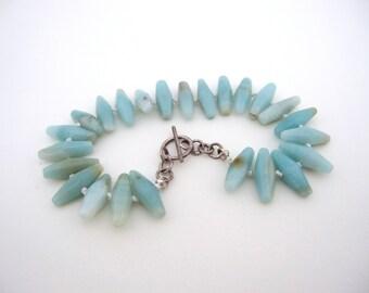 Amazonite Knotted Bracelet, Amazonite Bracelet, Amazonite Jewelry, Knotted Jewelry