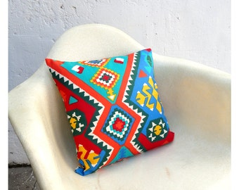 Pillow Case Cover - 16 Inch Size - Vintage Southwest Fabric -