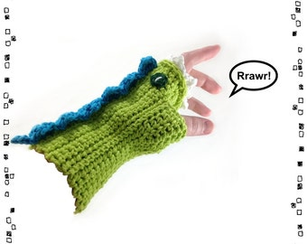 Crocheted Dragon Mitt Pattern PDF