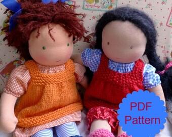 little jenny wren pinafore, knitting pattern, PDF