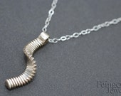 Tiny Twist Pendant in Sterling Silver - Free US Shipping