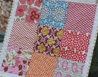 Complete Baby Quilt Kit in Your Chosen Colors and Prints.  Please See Listing For Details.
