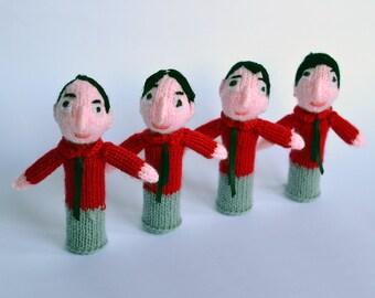 Kraftwerk style finger puppets