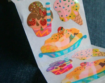 Ice Cream Shoppe - Vintage 90s Sandylion Stickers - 5.5 panels - LAST LOT