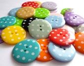 XL Extra Large Polka Dot Buttons - MIXED BAG of 30