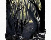 Dead End Trail - Screenprinted Art Print