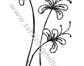 Thermofax Screen - Funky Floral Stems 1