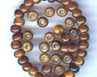 4mm Golden Horn Round Beads 25pcs