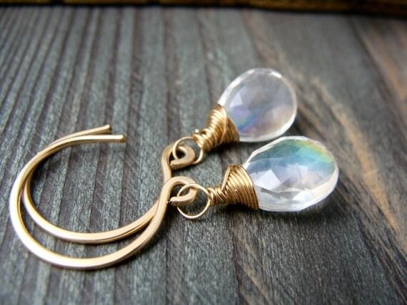 haunt  hoop ... mystic quartz, gemstone