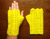 Glorieux Crochet Mitts PATTERN Double Pack DK and Fingering Weight PDF Email