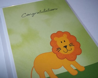 Congratulations Baby Card, Welcome Little One, Baby Greeting Card, Congratulations Baby Card, Baby Shower Card