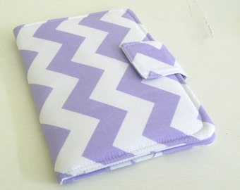Lavender and White Chevron Kindle 4 or 5 Cover, Kindle Voyage Case, Soft Book Style eReader Cover