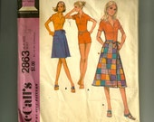 Vintage McCall's Misses' Petite Coordinated Separates Jumpsuit for Knits Only Pattern 2863