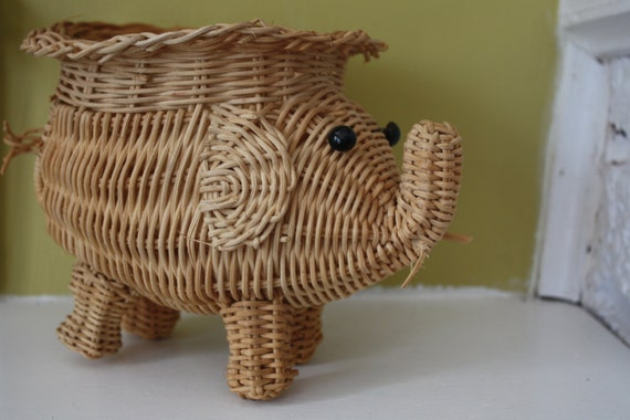 Elephant Wicker Hamper Lookup Beforebuying