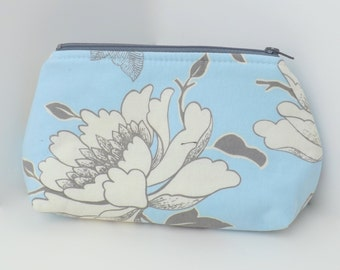 Cosmetic Bag or Zippered Pouch - Tree Peony