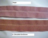 Foldover Elastic BROWN Green VIOLET RED or Peach 3/4 inch 5 yds lingerie baby headband