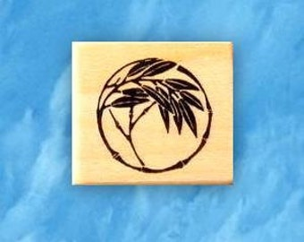 BAMBOO MOTIF mounted rubber stamp No.12