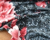 SALE RTS Newborn GiRL Stretch Wrap BaBy PhoTO ProP LaTiNo Black Hot Pink SeQUINs BLiNG Swaddler SPaNiSh Wrap MeXican Floral Layer BoHo