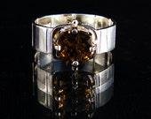 Cinnamon Square - Quartz gemstone ring