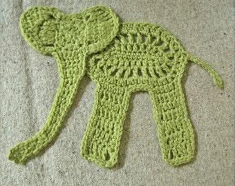 Elephant Love Appliqué Crochet Pattern