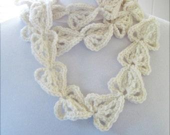Heart Leaf Scarf Crochet Pattern