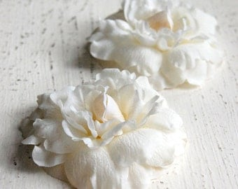 Wedding Hair Flowers, Bridal Accessories, Wedding Headpiece, Bridal Hair Clips, Bridal Hair Flower Accessories - The Mini's 2 Piece Set