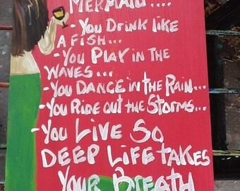 RhondaK ORIGINAL Signs You Might be a Mermaid...Series written by RhondaK herself...CUSTOMIZABLE