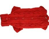 MADE TO MEASURE - 4 sleeves Alpaca warm dog  pet  winter sweater