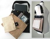school bag, carry on tote, cool bag, book bag, travel bag ,laptop messenger  bag, fabric handbag, womens messenger bag , ready to ship