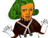 Ode to an Oompa Loompa ... Charlie and the Chocolate Factory inspired ... limited edition print