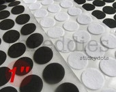 "1"" sticky felt circles // adhesive-backed felt circles for making headbands and ponytail holders // lot of 50"