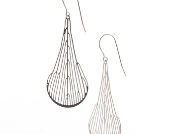 Dichotomous earrings (stainless steel) // geometric jewelry // art - science - nature // minimalist