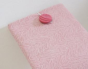 Tablet Reader Sleeve Case, pink, vintage button, kindle case, tablet case, ready-to-ship