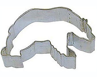 Grizzly, Polar Bear Cookie Cutters, 3.5""