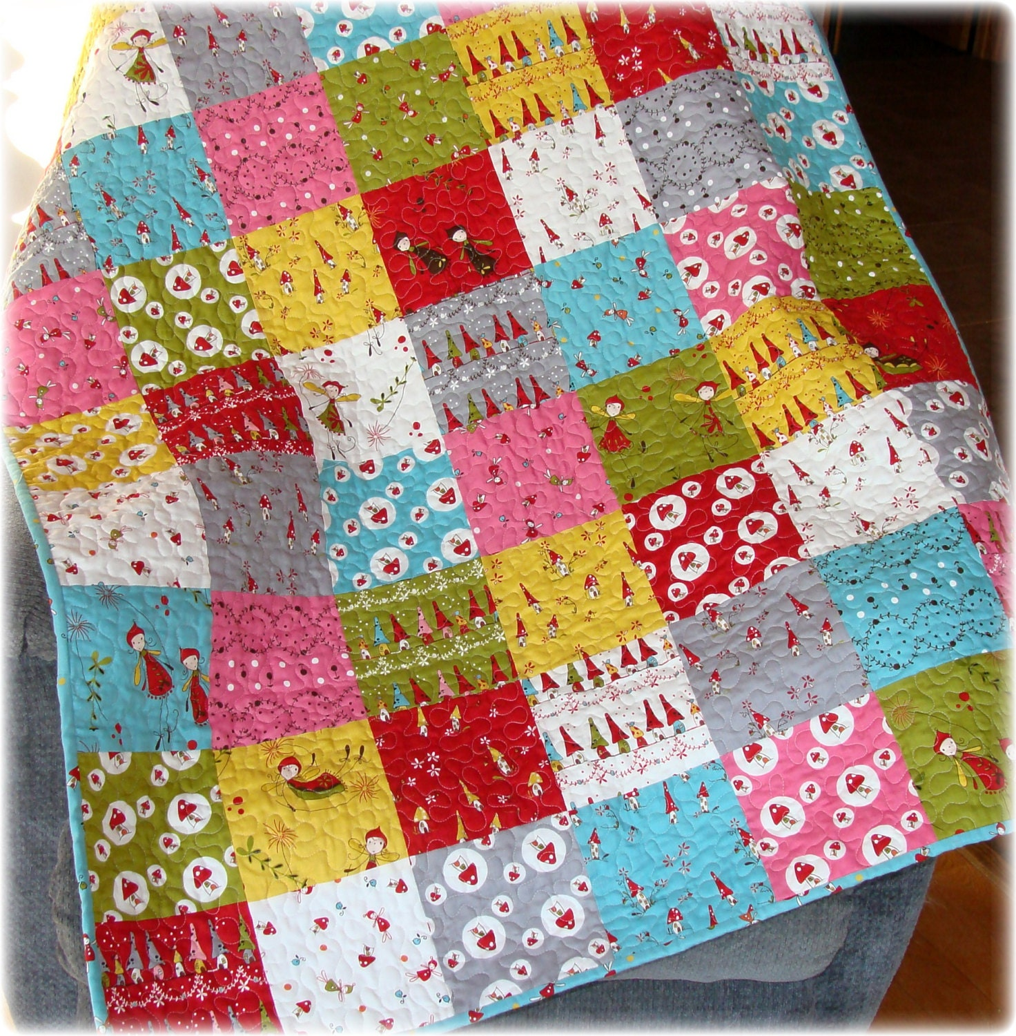 baby girl quilt woodland fairies whimsy by carlenewestberg