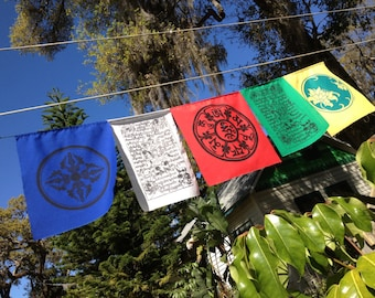 Blessings on the Wind prayer flag assortment