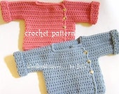 crochet pattern digital download babies to 12 months playtime sweater