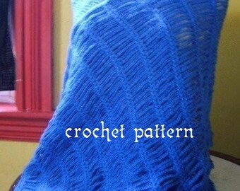 crochet pattern digital download chain wrap, shawl, scarf
