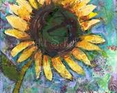 bright home decor | Sunflower ART print on Canvas Modern Contemporary  boho decor