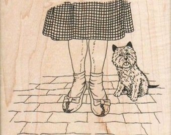 Wizard of Oz  Rubber stamp Dorothy and Toto  stamps stamping plate   scrapbooking supplies number 14807