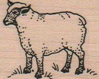 Sheep lamb    Stamp whimsical  Rubber Stamp  16776