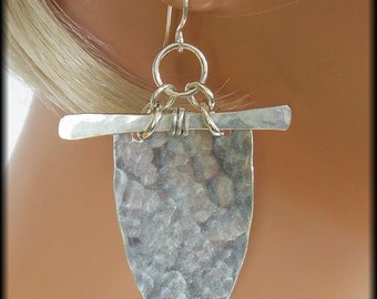 SHAWNA - Handforged Pewter & Sterling Exotic Statement Earrings