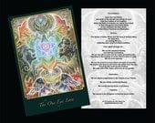 "Altar Card - ""The One Eye Love"" by JAH Ishka Lha"
