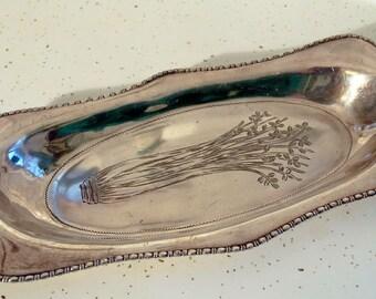 antique celery plate